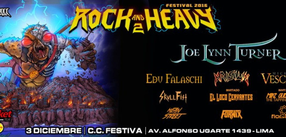Segunda edición de Rock And Heavy Festival – Evento a celebrarse en Perú
